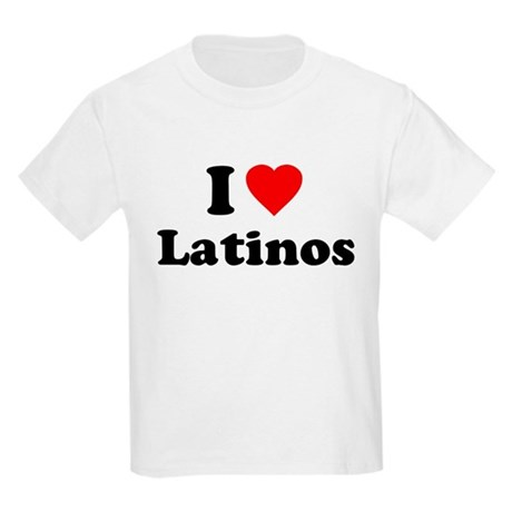 I Love [Heart] Latinos Kids Light T-Shirt