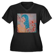 Melina Women's Plus Size V-Neck Dark T-Shirt