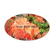 Orange Australian Flower Photo Col Oval Car Magnet