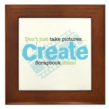 Create - Green Framed Tile
