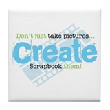 Create - Green Tile Coaster