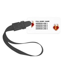 Hearts 3d Flame Luggage Tag