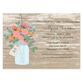 Mason jar bridal shower Invitations & Announcements