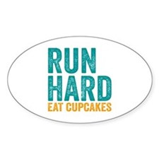 Run Hard Eat Cupcakes Decal