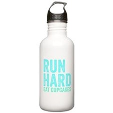 Run Hard Eat Cupcakes Water Bottle
