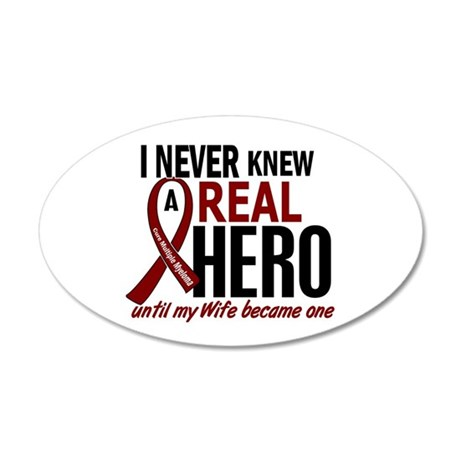 Multiple Myeloma Real Hero 2 20x12 Oval Wall Decal