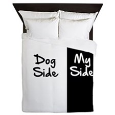 Dog Side, My Side Queen Duvet