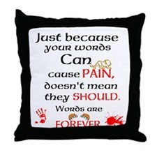 Words are FOREVER. Throw Pillow