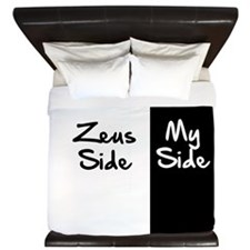 Zeus Side, My Side King Duvet