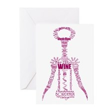 Burgundy Wine Bottle Opener Greeting Cards