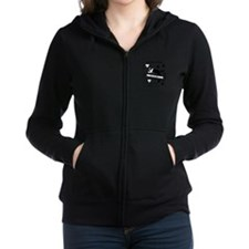 Boston Terrier Agility Addict Zip Hoodie