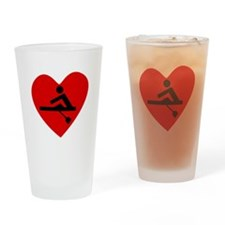 Rowing Heart Drinking Glass