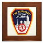 Columbus Fire Department Framed Tile