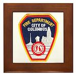 Columbus Fire Department Framed Tile
