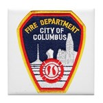 Columbus Fire Department Tile Coaster