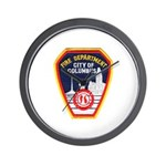 Columbus Fire Department Wall Clock