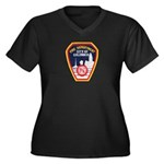 Columbus Fire Department Women's Plus Size V-Neck