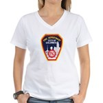Columbus Fire Department Women's V-Neck T-Shirt
