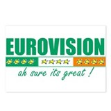 Irish Eurovision Postcards (Package of 8)