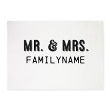Mr. & Mrs. Personalized 5'x7'Area Rug