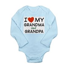 I Love My Grandma and Grandpa Infant Creeper Body