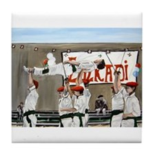 Basque Dancers Tile Coaster