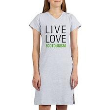 Live Love Ecotourism Women's Nightshirt