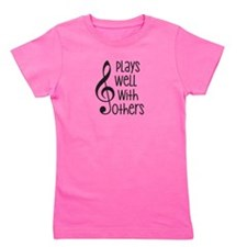 Plays Well with Other - G clef Girl's Tee