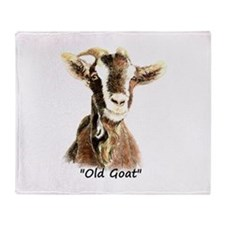 Old Goat Fun Quote for Him Throw Blanket