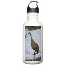 Sandhill Crane snow Water Bottle