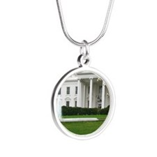 President's House Silver Round Necklace