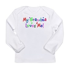 My Grandma Loves Me (younger) Long Sleeve T-Shirt