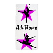 Pink Star Dancer Beach Towel