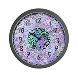 Funky Purple Wall Clock
