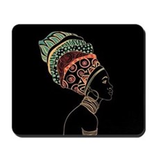 African Woman Mousepad