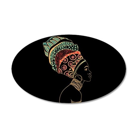 African Woman 20x12 Oval Wall Decal