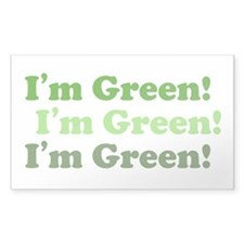 I'm Green! Rectangle Decal
