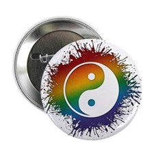 "LGBT Taoism's Yin and Yang 2.25"" Button (10 pack)"