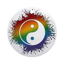 LGBT Taoism's Yin and Yang Ornament (Round)