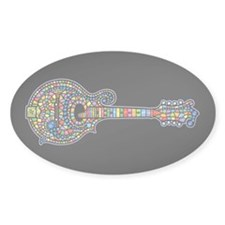 Mosaic Mandolin Oval Decal