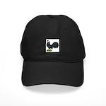 Rosecomb Rooster Black Cap