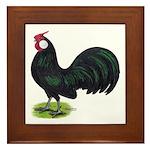 Rosecomb Rooster Framed Tile