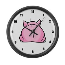 Pig Large Wall Clock