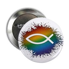 "LGBT Christian Fish 2.25"" Button (100 pack)"