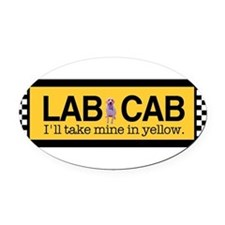 Cute Taxi cabs Oval Car Magnet