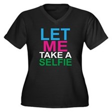 let me take  Women's Plus Size V-Neck Dark T-Shirt
