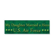 Cute Military daughter law Car Magnet 10 x 3