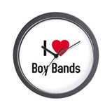 I love boy bands Wall Clock