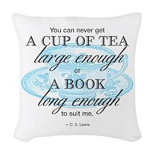 Tea Quote Woven Throw Pillow