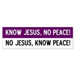 No Jesus! Bumper Sticker